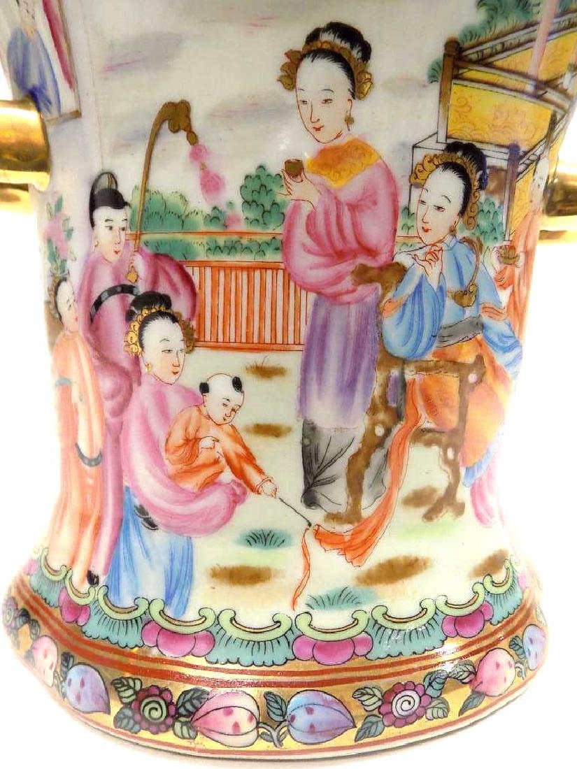 CHINESE FAMILLE ROSE URN - 4