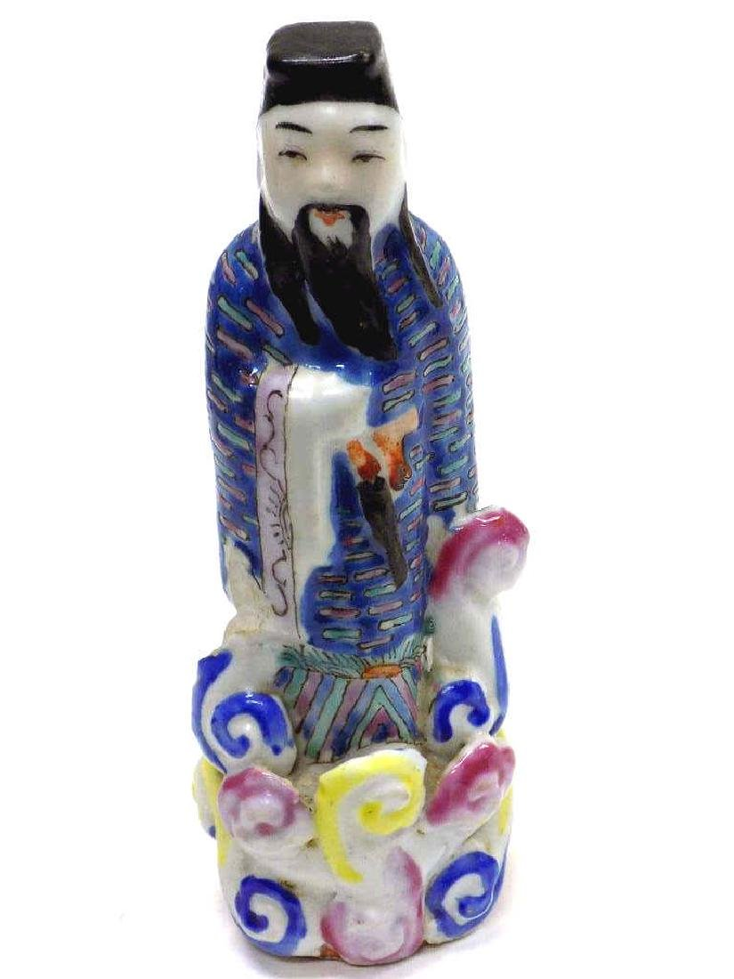 CHINESE CHING IMMORTAL PORCELAIN FIGURE - 2