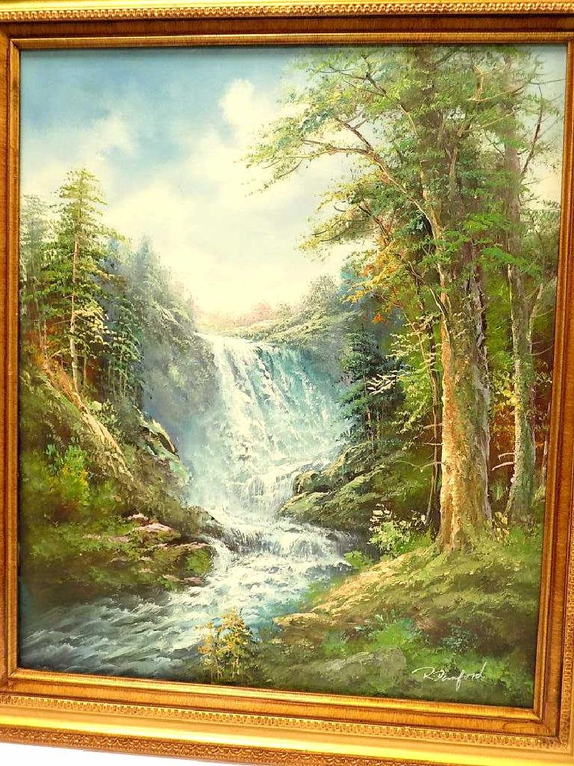 R. DENFORD - MOUNTAIN WATERFALL PAINTING - 2