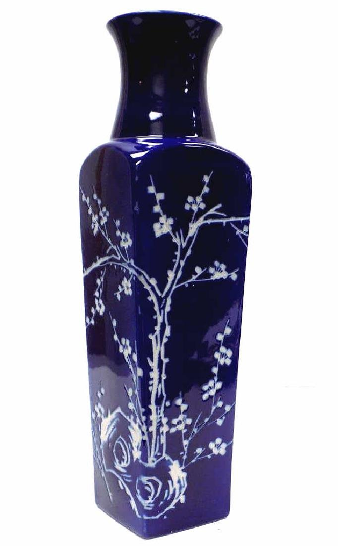 JAPANESE BLOSSOMS SIGNED VASE