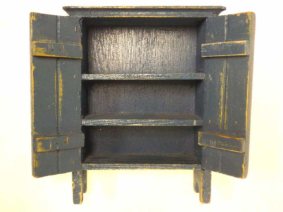 ROBINS EGG BLUE MINIATURE COUNTRY CUPBOARD