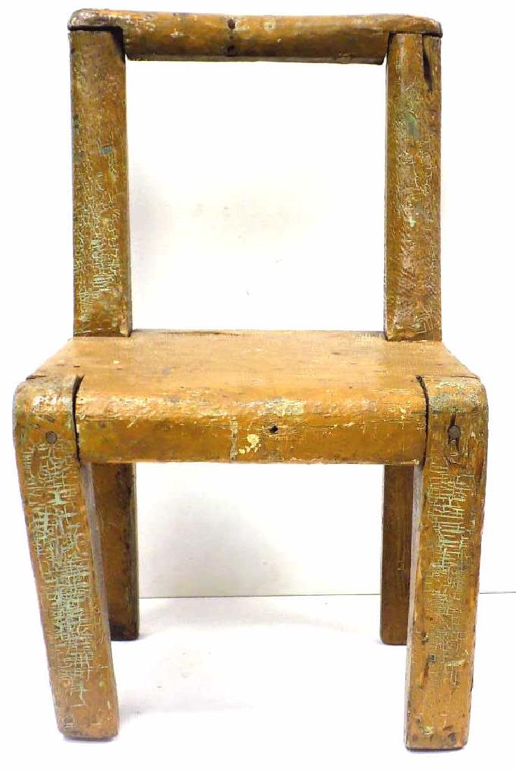 PRIMITIVE SOUTHERN PINE PAINTED CHILDS CHAIR