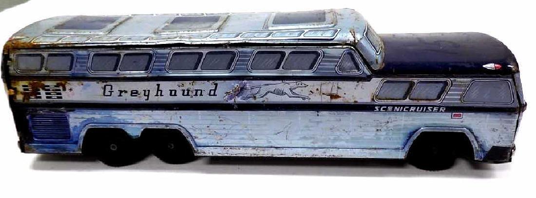 VINTAGE GREYHOUND SCENIC CRUISER TIN TOY BUS