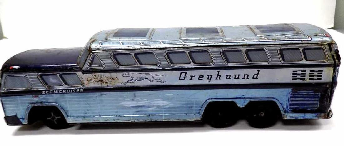 VINTAGE GREYHOUND SCENIC CRUISER TIN TOY BUS - 3