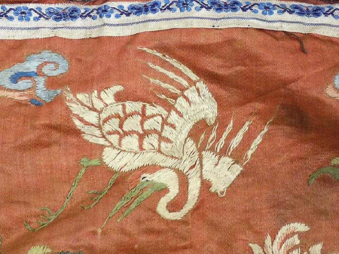CHINESE FLYING CRANES SILK EMBROIDERY - 3