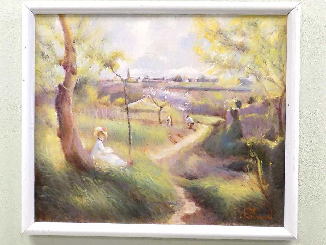 RICHMOND - SUMMER DAY WPA STYLE LANDSCAPE PAINTING