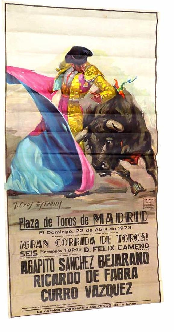 SPANISH BULL FIGHTER MATADOR POSTER
