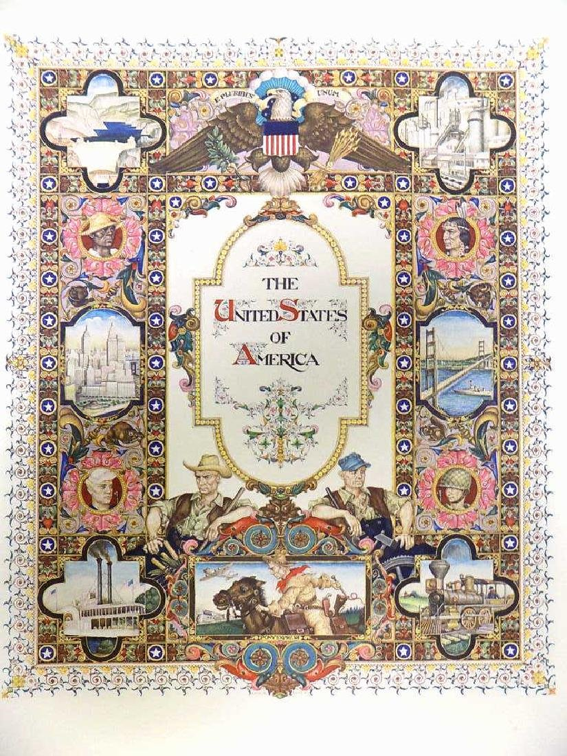 ARTHUR SZYK - UNITED STATES OF AMERICA LITHOGRAPH