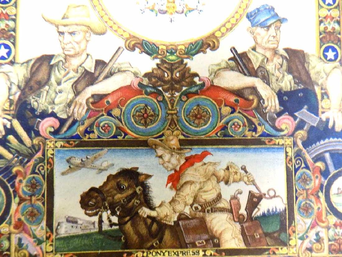 ARTHUR SZYK - UNITED STATES OF AMERICA LITHOGRAPH - 3