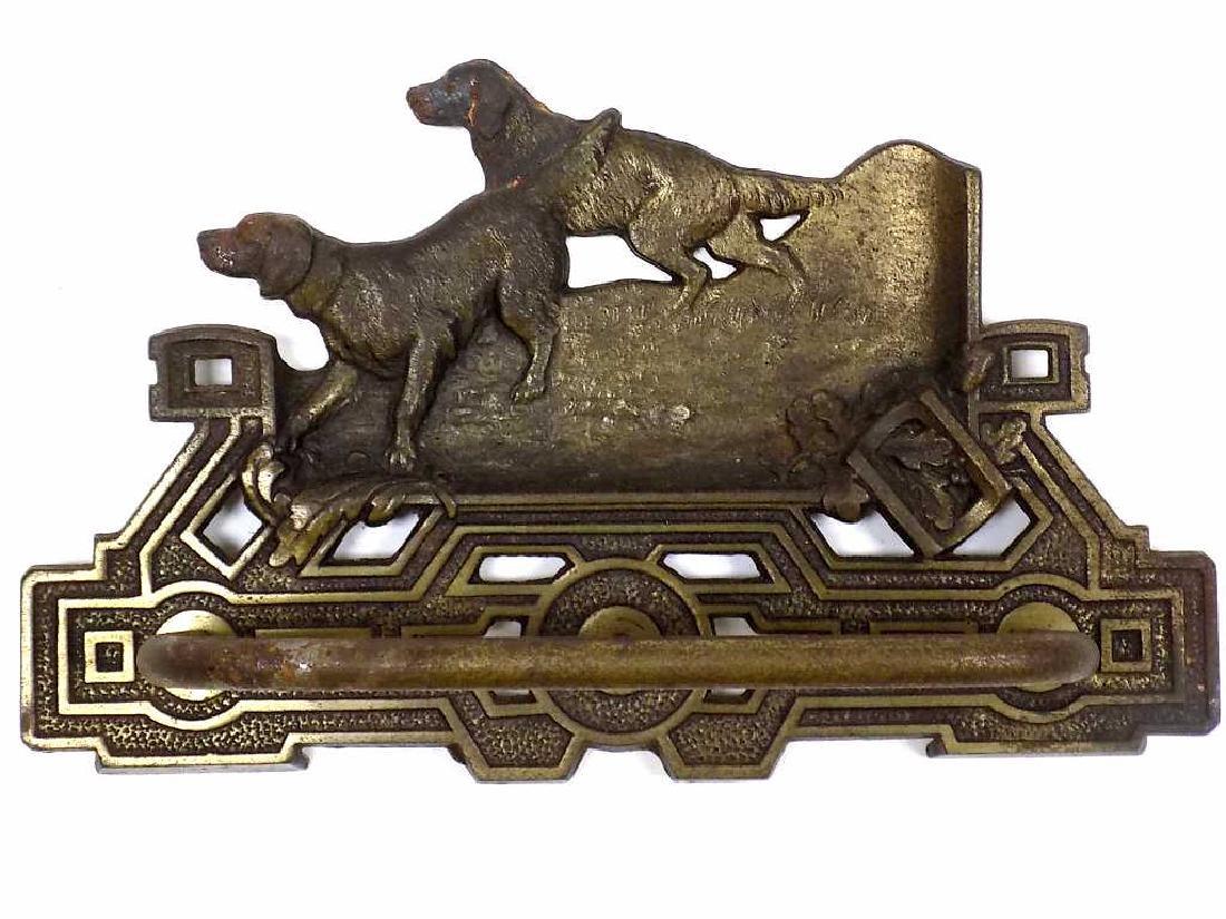 BRADLEY & HUBBARD HUNTING DOGS BRONZED RACK
