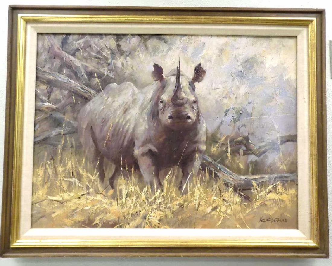 VIC ? RHINOCEROS PAINTING