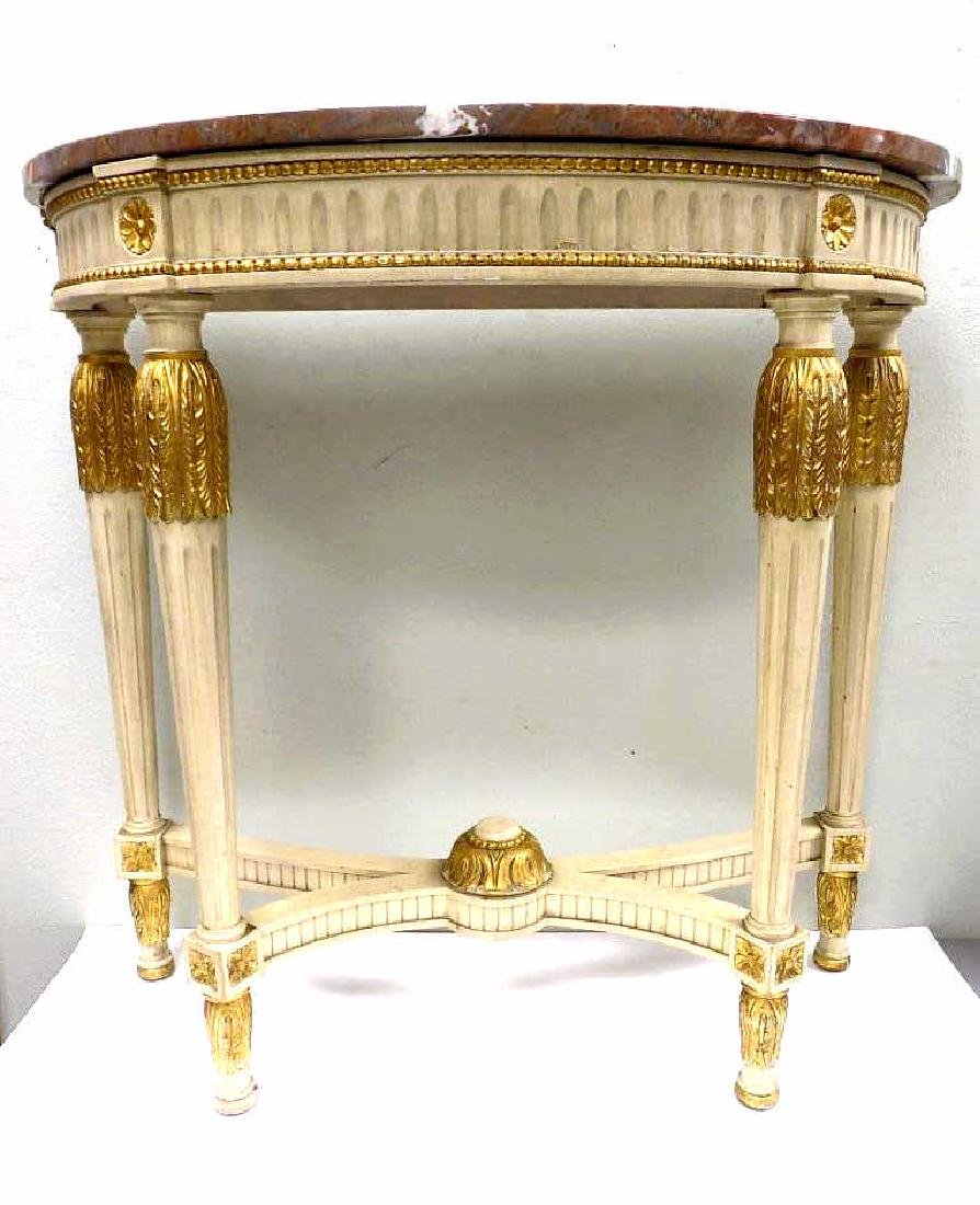 REGENCY STYLE MARBLETOP GILT CONSOLE TABLE