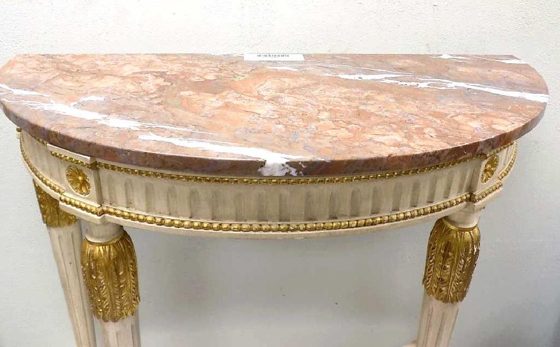 REGENCY STYLE MARBLETOP GILT CONSOLE TABLE - 2