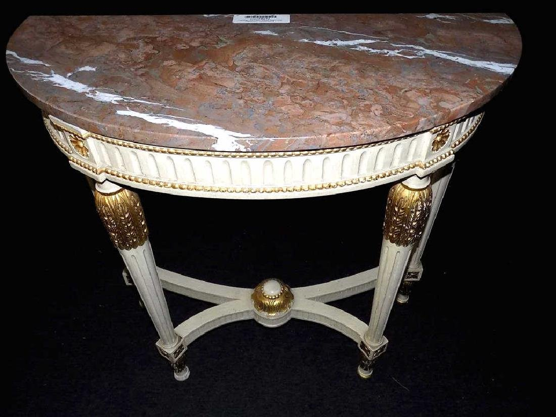 REGENCY STYLE MARBLETOP GILT CONSOLE TABLE - 3