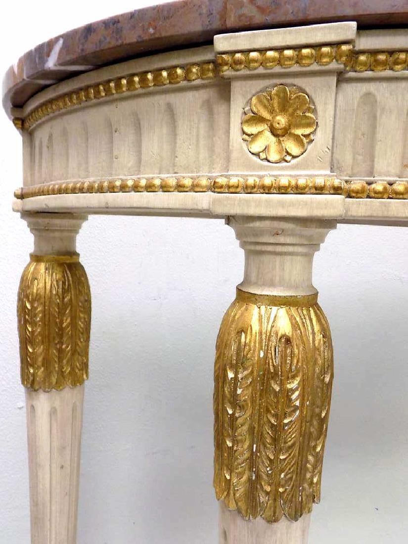 REGENCY STYLE MARBLETOP GILT CONSOLE TABLE - 5