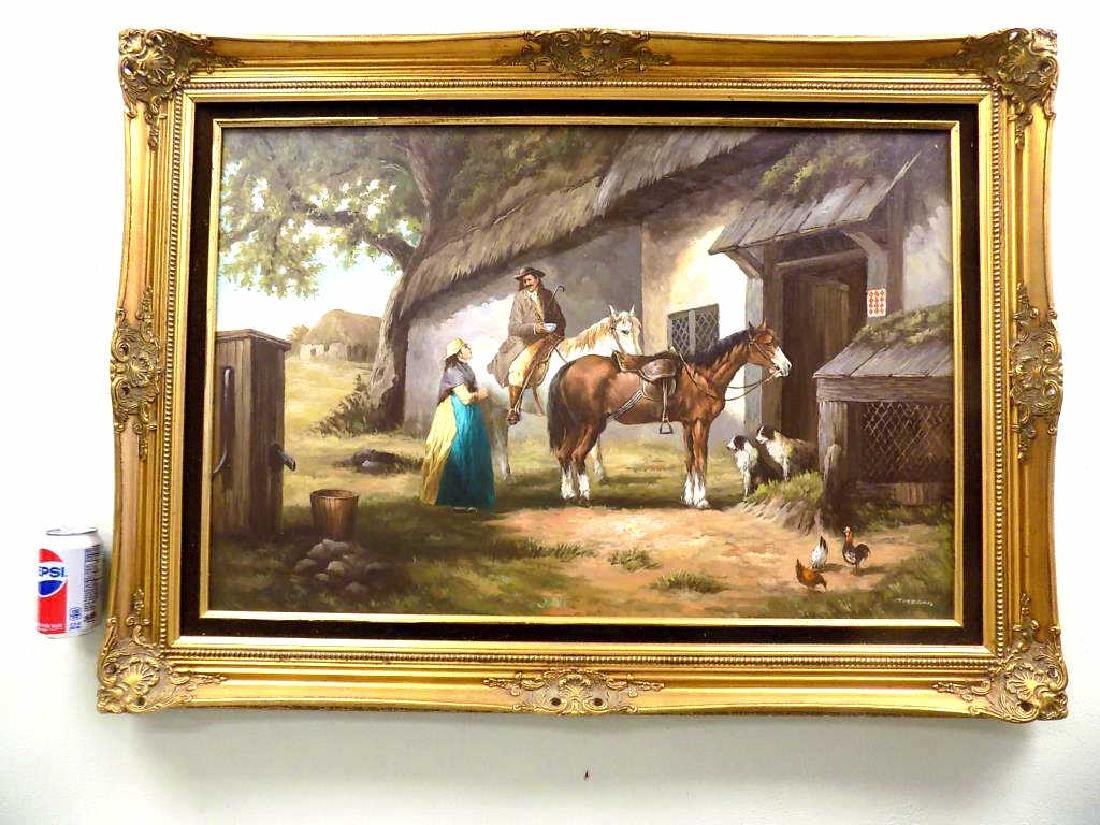 EUROPEAN COUNTRY HOMESTEAD PAINTING
