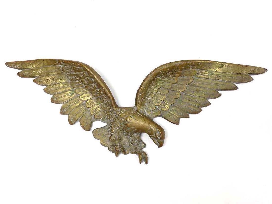 BIG AMERICAN EAGLE BRONZE WALL PLAQUE