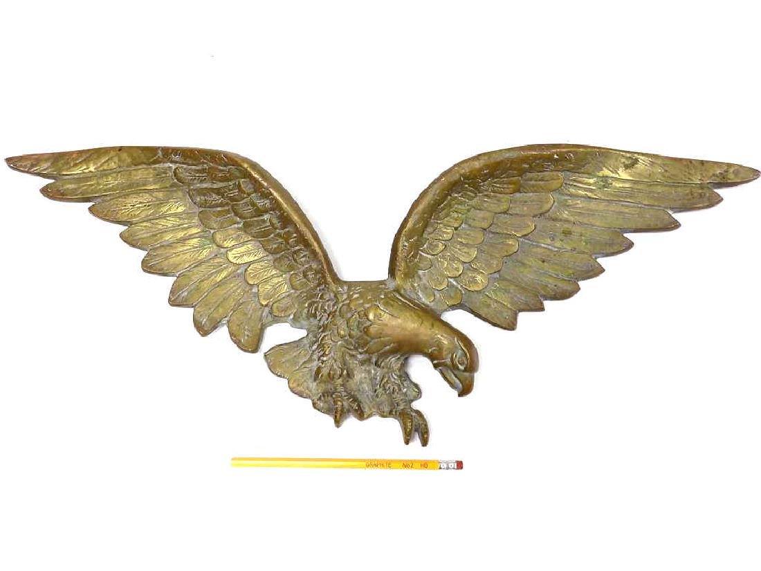 BIG AMERICAN EAGLE BRONZE WALL PLAQUE - 3