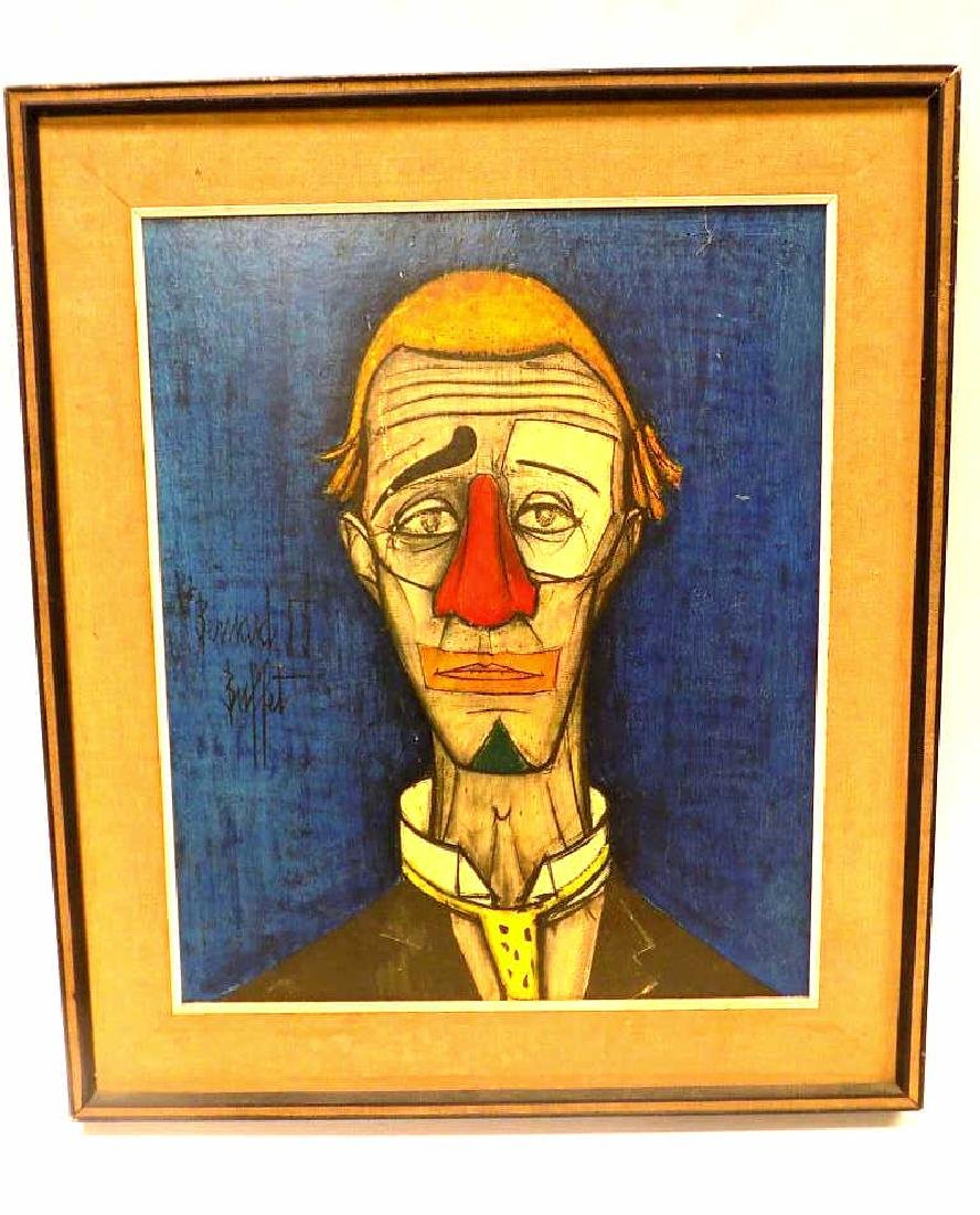 BERNARD BUFFET - THE SAD CLOWN LITHOGRAPH