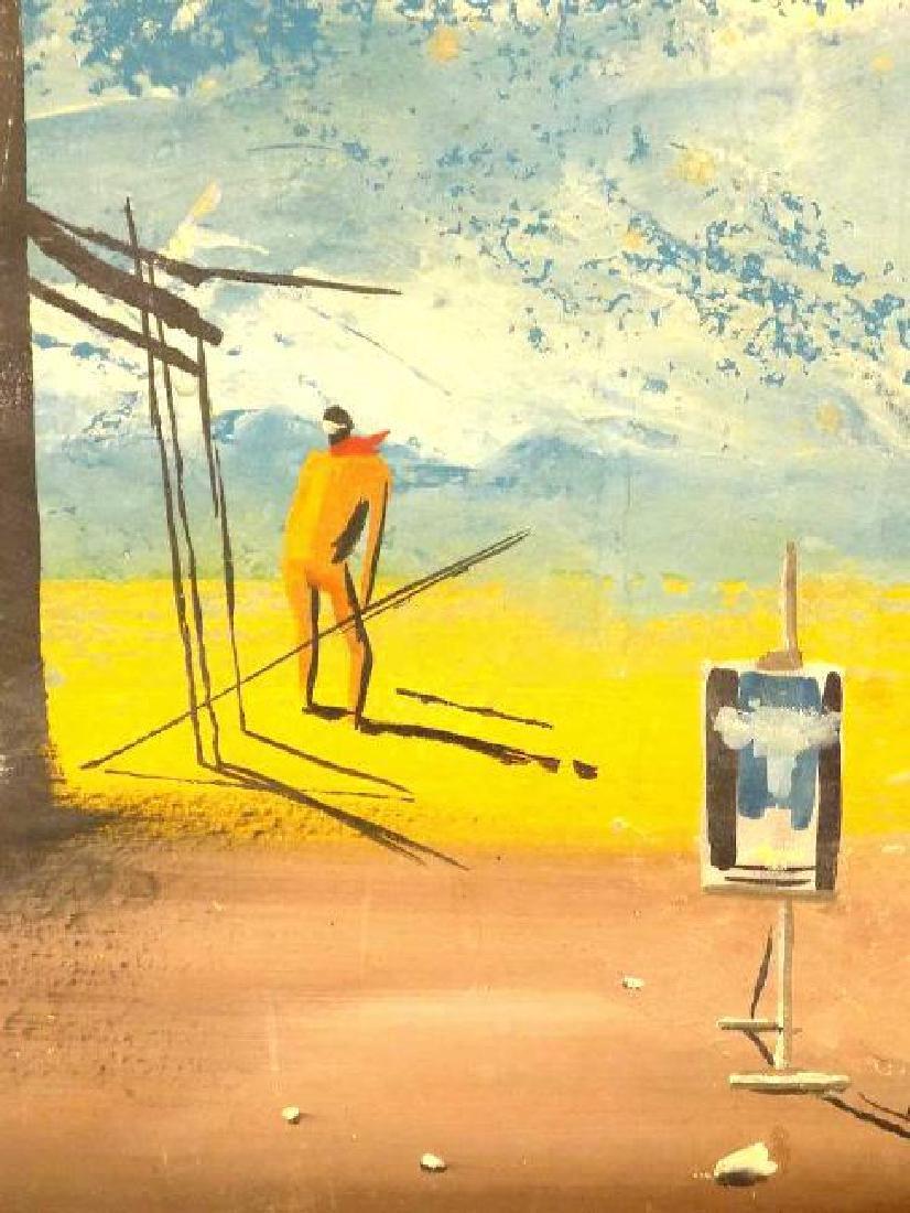 DALI STYLE MIDCENTURY SURREALIST ARTIST PAINTING - 3