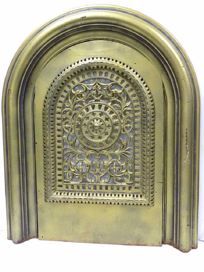 FANCY VICTORIAN IRON FIREPLACE DOOR NEW YORK