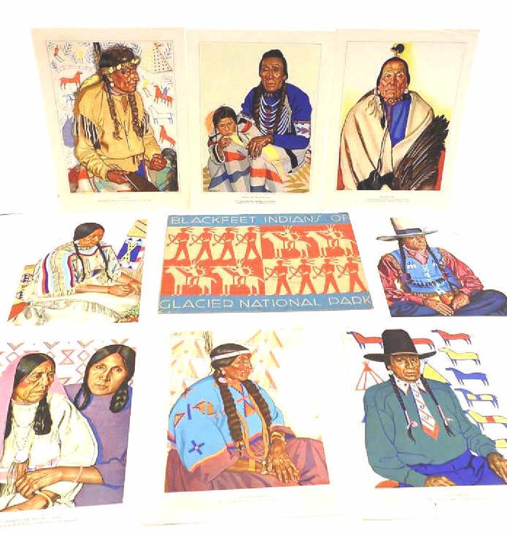 BLACKFEET INDIANS OF GLACIER NATIONAL PARK