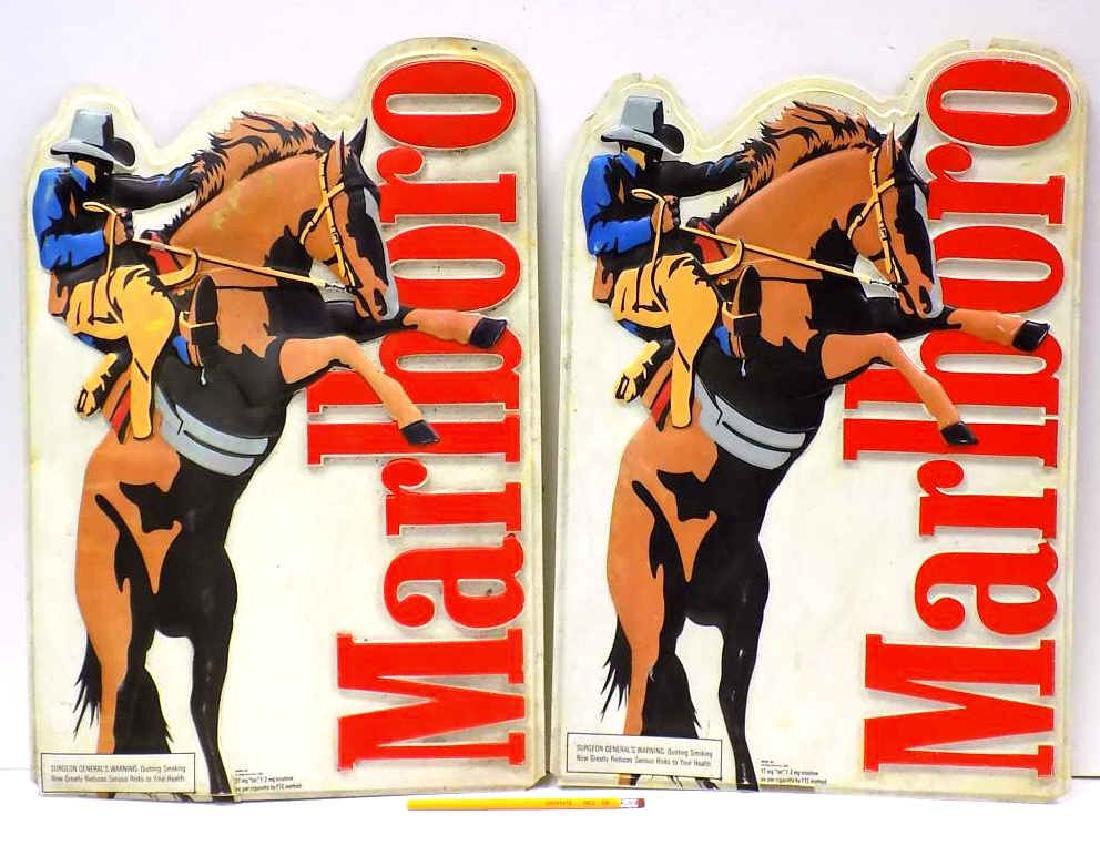 MARLBORO MAN ON BRONCO ADVERTISING SIGNS