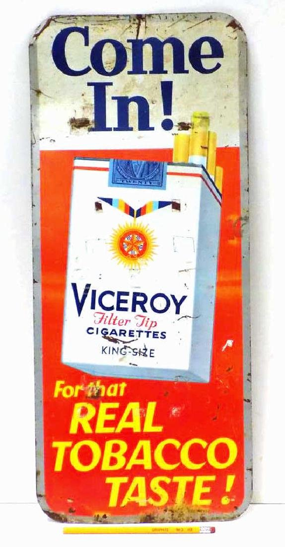 VICE ROY CIGARETTES TOBACCO ADVERTISING SIGN