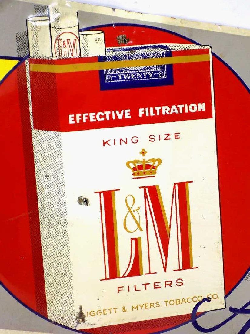L&M CIGARETTES TOBACCO ADVERTISING METAL SIGN - 2