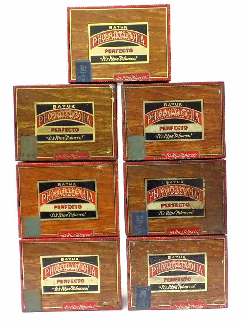 BAYUK PHILADELPHIA PHILLIES CIGARS TOBACCO BOXES