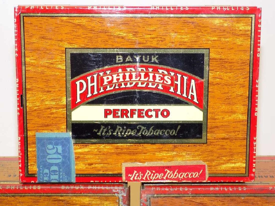 BAYUK PHILADELPHIA PHILLIES CIGARS TOBACCO BOXES - 2
