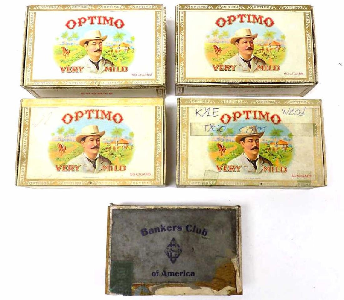 GROUP OF OPTIMO SPORTS CIGAR BOXES