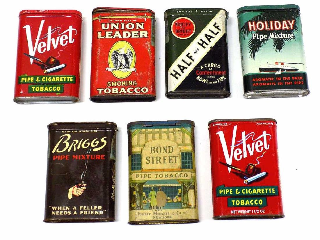 GROUP OF 7 ANTIQUE TOBACCO ADVERTISING TIN BOXES