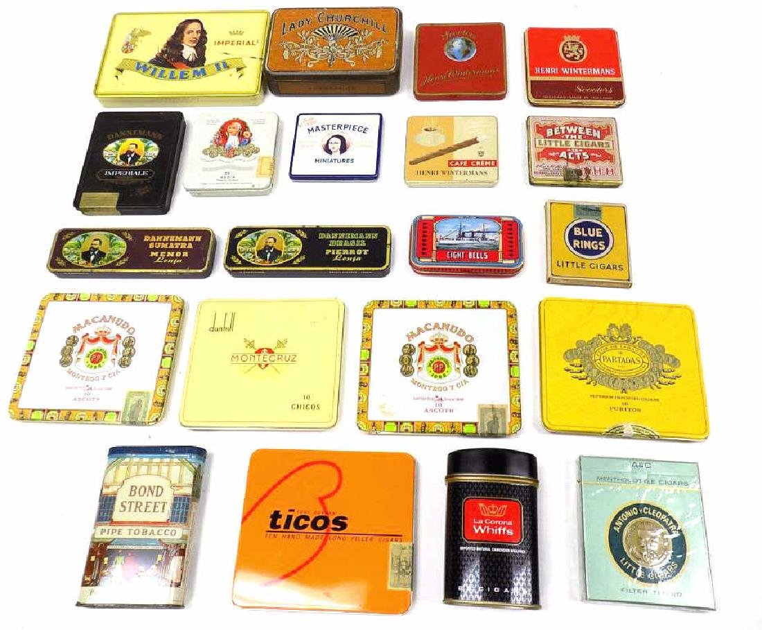 GROUP OF 20 VINTAGE TOBACCO ADVERTISING TINS