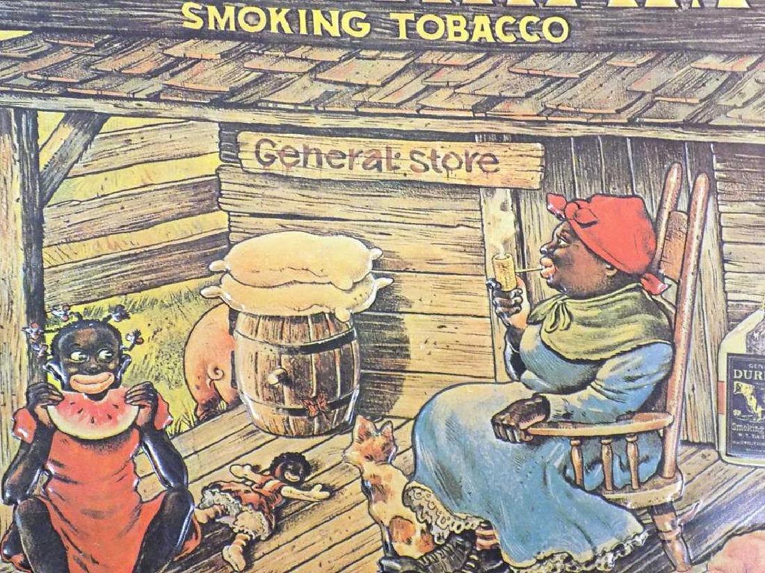 BULL DURHAM SMOKING TOBACCO ADVERTISING SIGN - 2