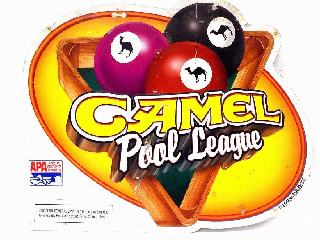 CAMEL CIGARETTES TOBACCO / POOL LEAGUE SIGN