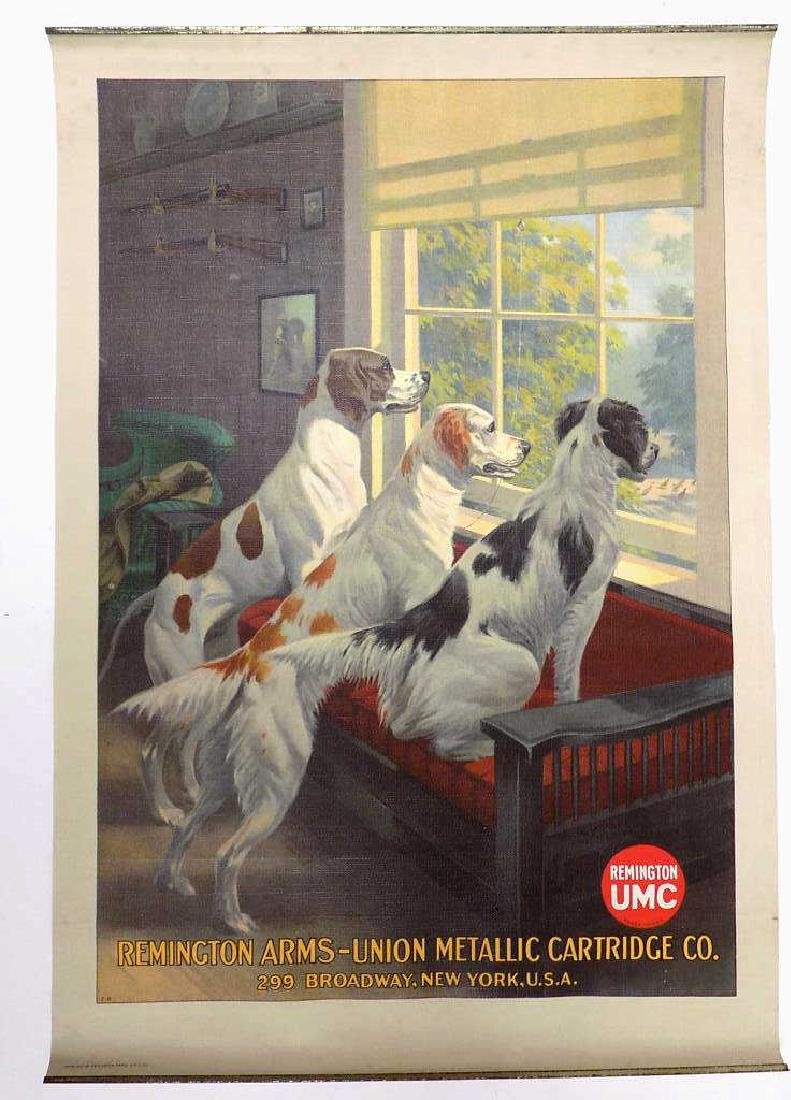 REMINGTON ARMS HUNTING HOUNDS ADVERTISING POSTER