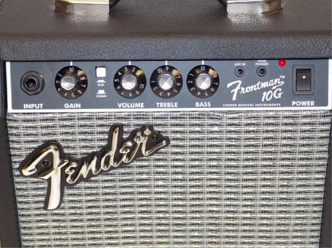 FENDER SQUIER STRATOCASTER GUITAR W/ AMPLIFIER - 3