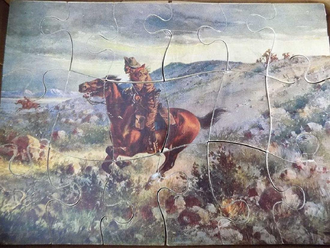 PARKER BROTHERS FAMOUS ART LITHOGRAPHY PUZZLES - 2