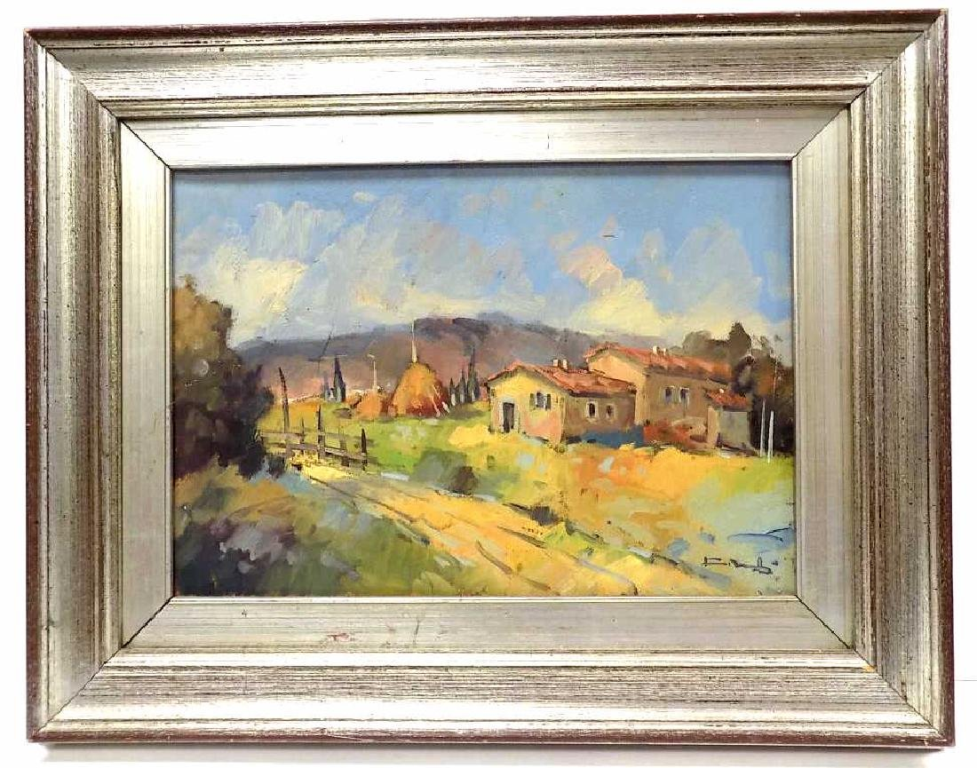 SOUTH WESTERN IMPRESSIONIST PAINTING SIGNED ILLEG