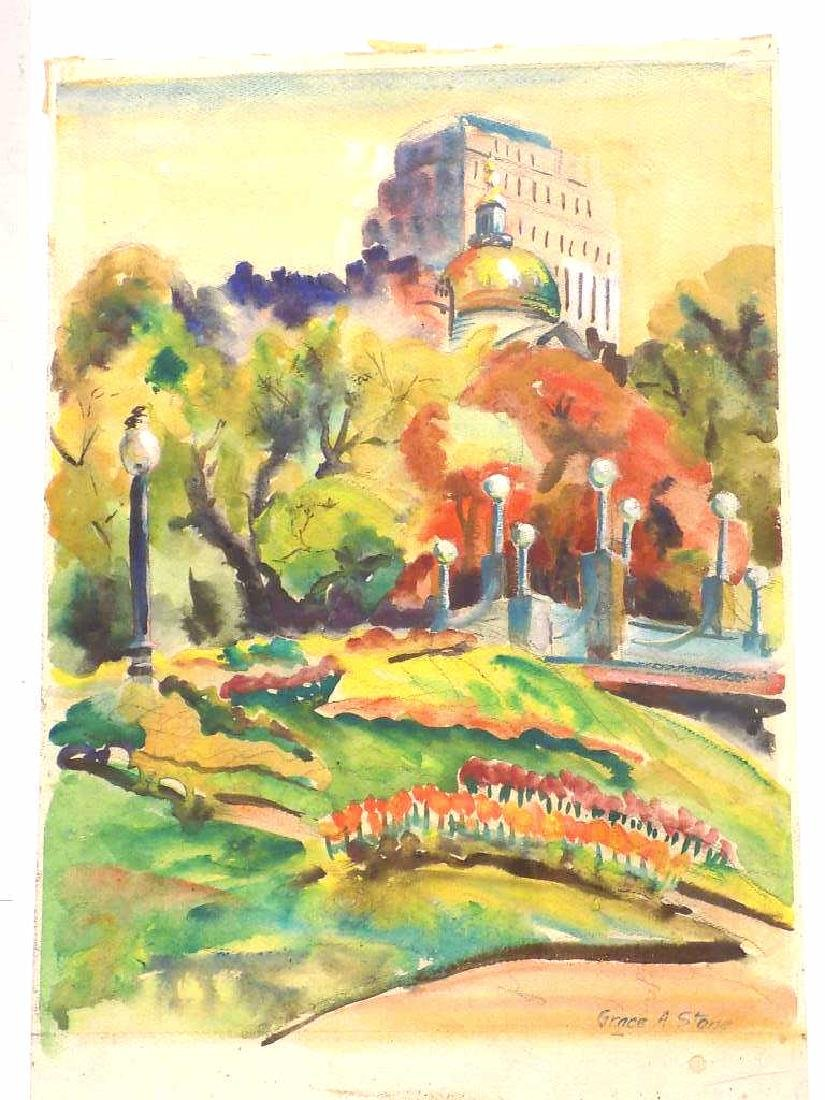 GRACE A. STONE - NEW YORK CITY WATERCOLOR