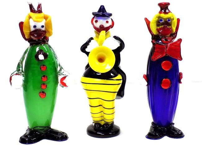 LARGE MURANO GLASS CLOWN GROUP