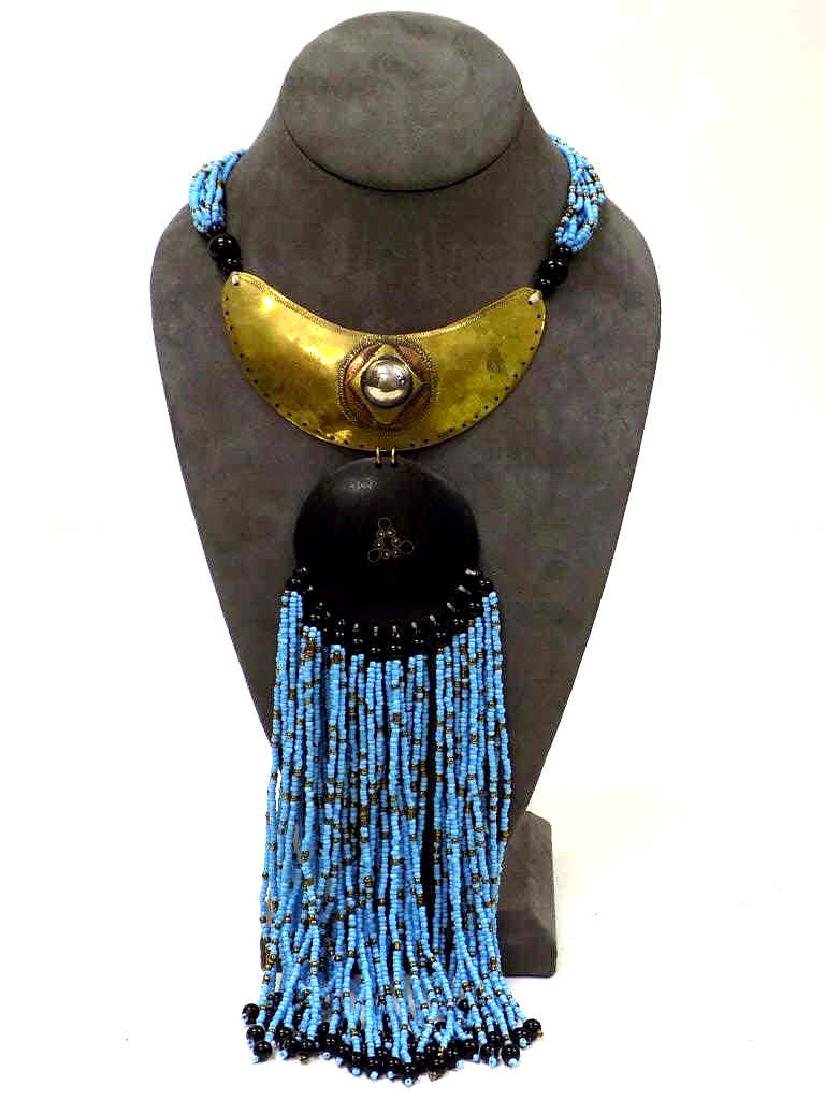 AFRICAN ARTISAN MADE TURQUOISE CHOKER NECKLACE