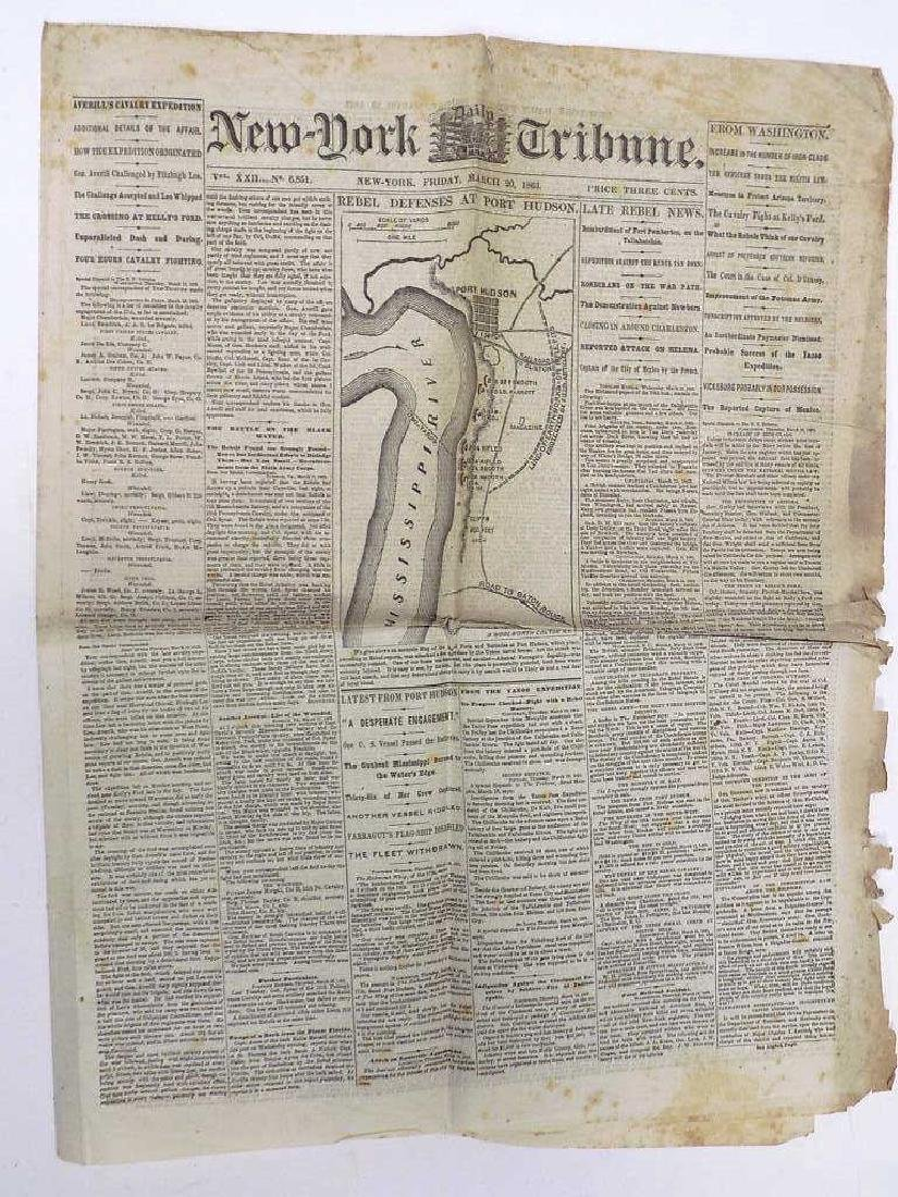 1863 NEW YORK TRIBUNE NEWSPAPER CIVIL WAR HEADLINE