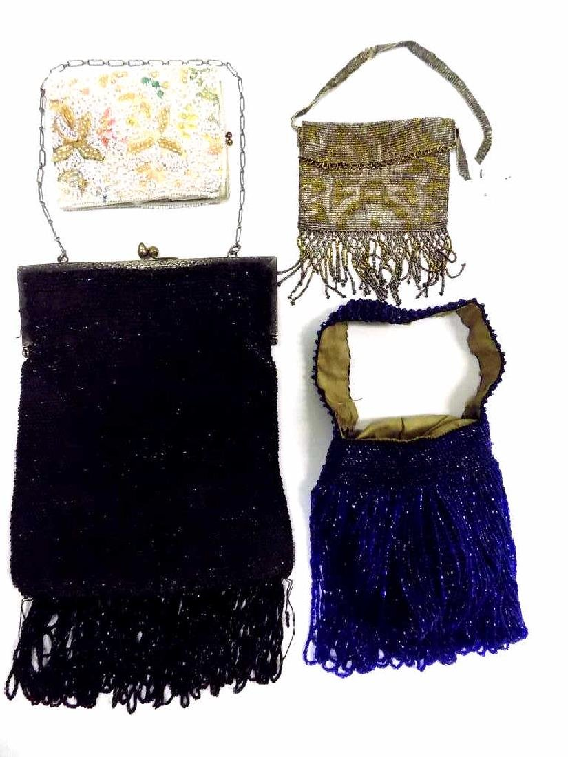ART DECO FLAPPER GIRL BEADED FASHION PURSES