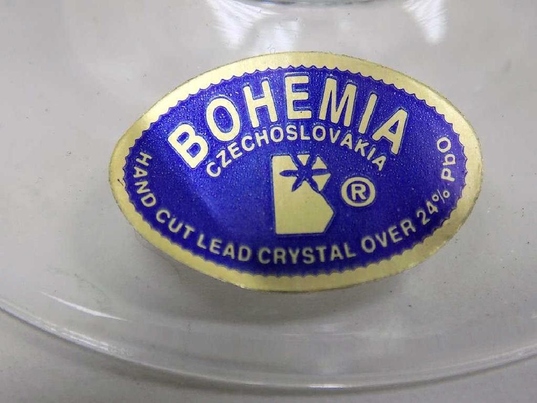 FINE BOHEMIA ETCHED CRYSTAL WINE GLASS SET - 4