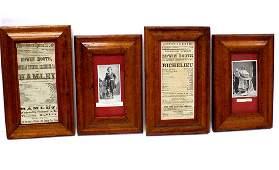 1860'S EDWIN BOOTH BROADSIDES EPHEMERA GROUP