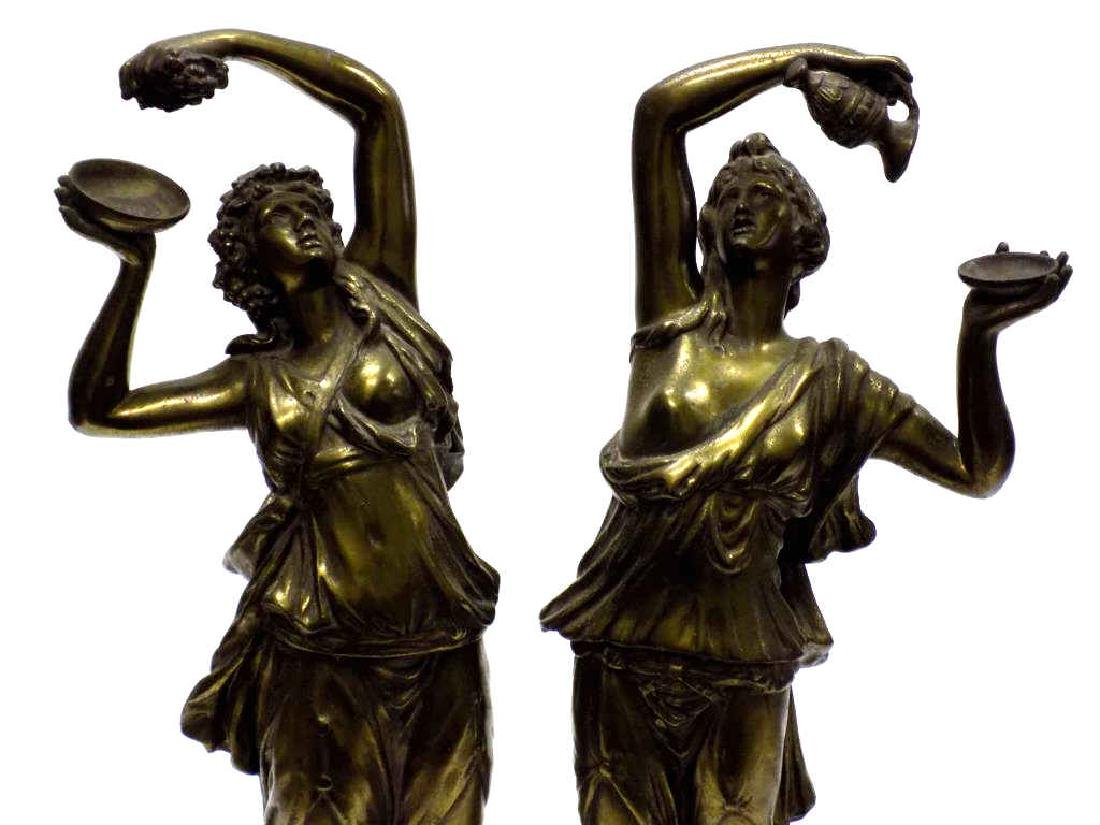 CLASSICAL GILT BRONZED GODDESSES OF WEALTH STATUES - 2