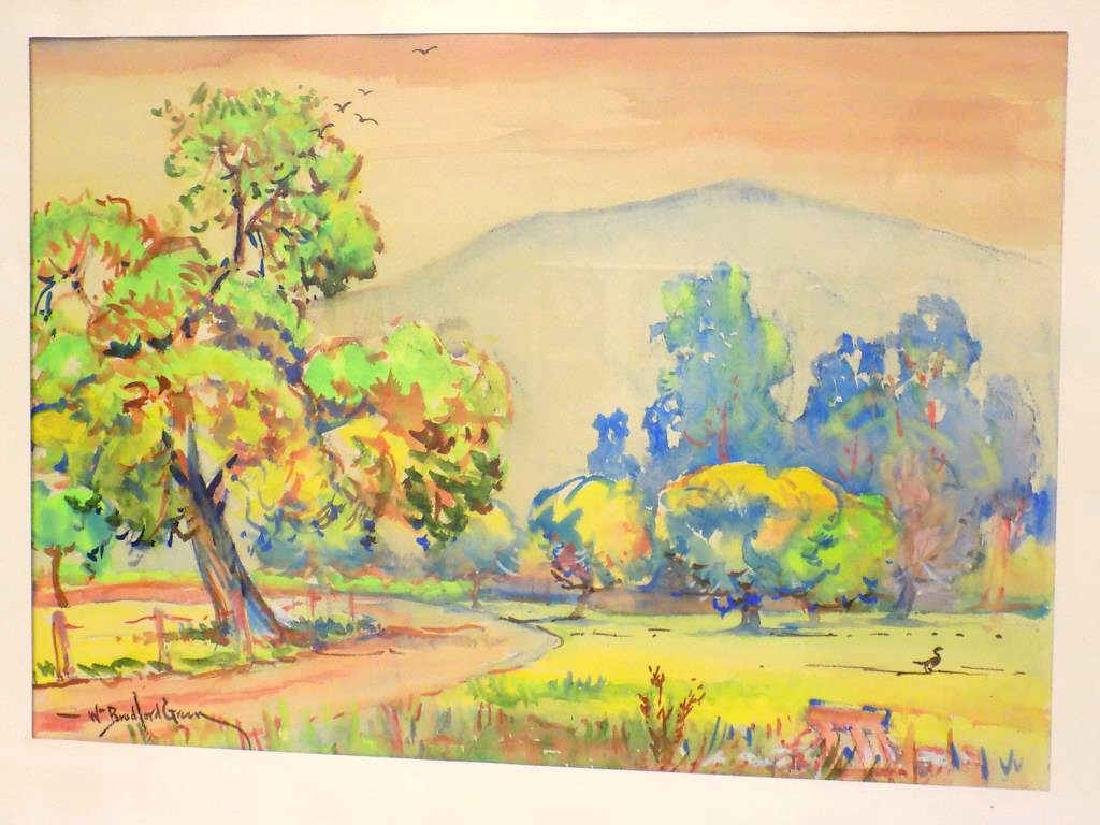 WILLIAM BRADFORD GREEN - HUDSON VALLEY WATERCOLOR - 2