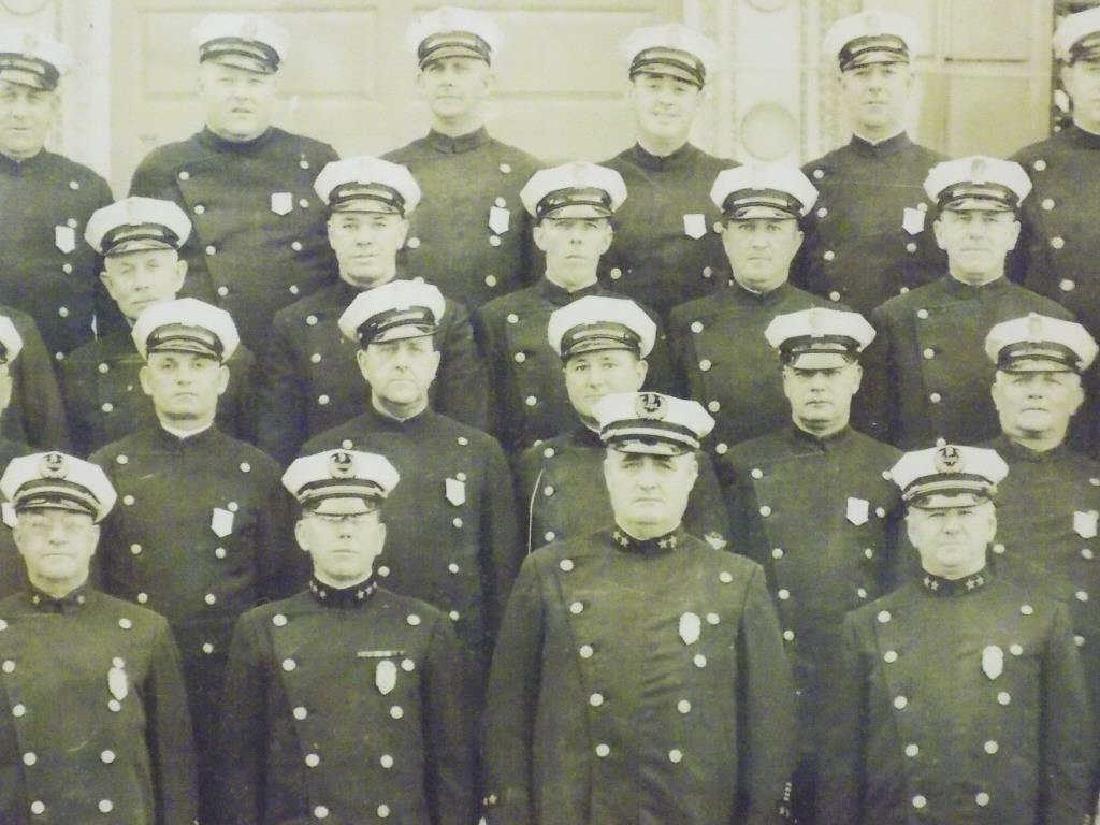 EARLY UNIFORMED POLICEMAN BATTALION YARD LONG PHOTO - 2